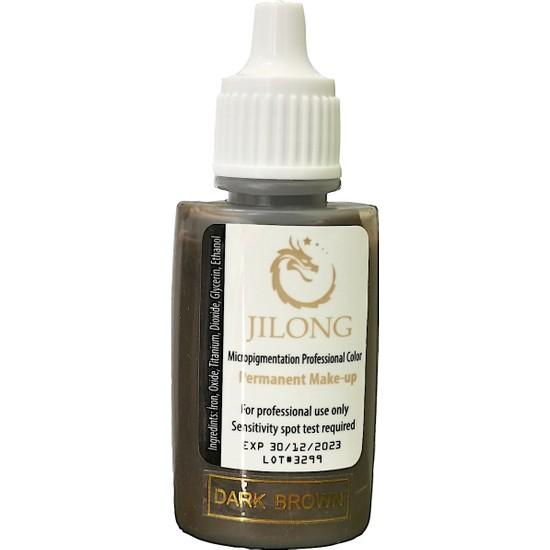 Jilong Kalıcı Makyaj Pigmenti Dark Brown 25 ml