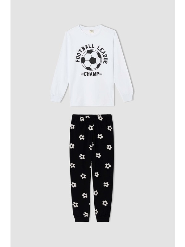 Defacto Erkek Çocuk Futbol Topu Baskılı Pijama Takımı S0459A620AU