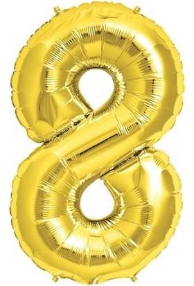 Bebekparti 8 Rakam Altın Folyo Balon 100 cm