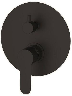Bien 2 Yollu Waterflowbox Ankastre Duş Sistemi Seti - Yuvarlak Mat Siyah