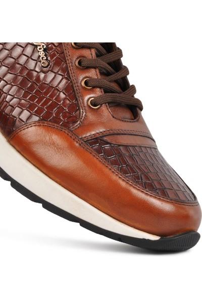 Fosco Taba-Kahve Hakiki Deri Erkek Casual Ayakkabı