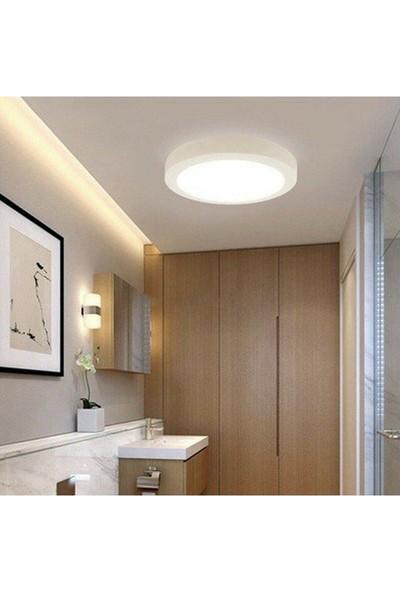 İscan Aydınlatma LED 18W Yuvarlak Beyaz Işık Sıvaüstü Slim Panel A++ Kalite Tavan Aydınlatma Armatürü
