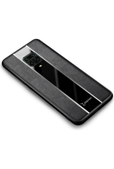 Zebana Xiaomi Redmi Note 9 Pro Max Kılıf Zebana Premium Deri Kılıf Siyah