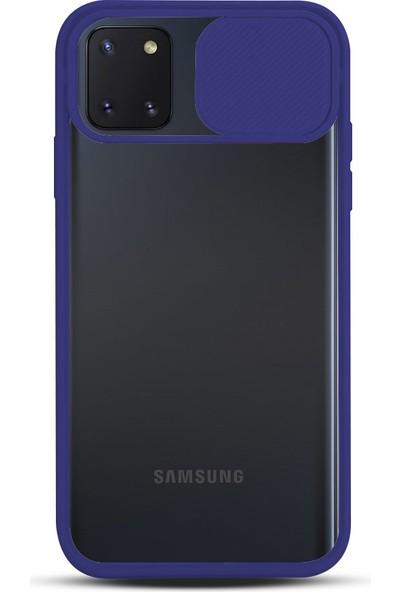 Zebana Samsung Galaxy Note 10 Lite Kılıf Kamera Lens Korumalı Kılıf Lacivert