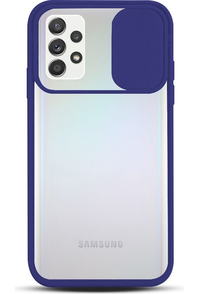 Zebana Samsung Galaxy A72 5g Kılıf Kamera Lens Korumalı Kılıf Lacivert
