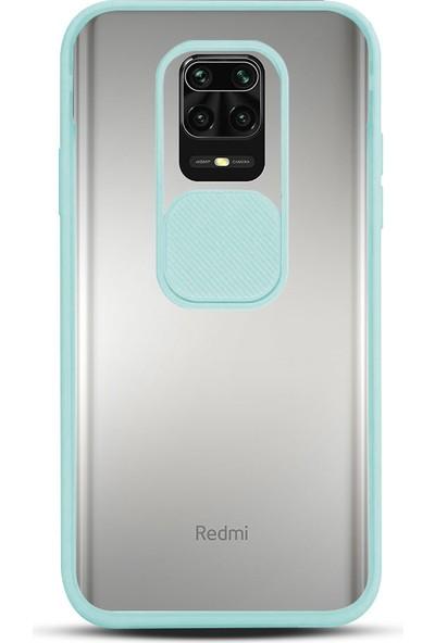 Zebana Xiaomi Redmi Note 9 Pro Max Kılıf Kamera Lens Korumalı Kılıf Turkuaz