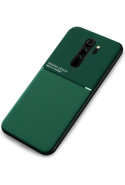 Zebana Xiaomi Redmi 9 Kılıf Zebana Design Silikon Kılıf Yeşil