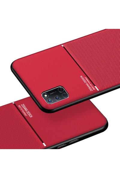 Zebana Oppo A52 Kılıf Zebana Design Silikon Kılıf Kırmızı