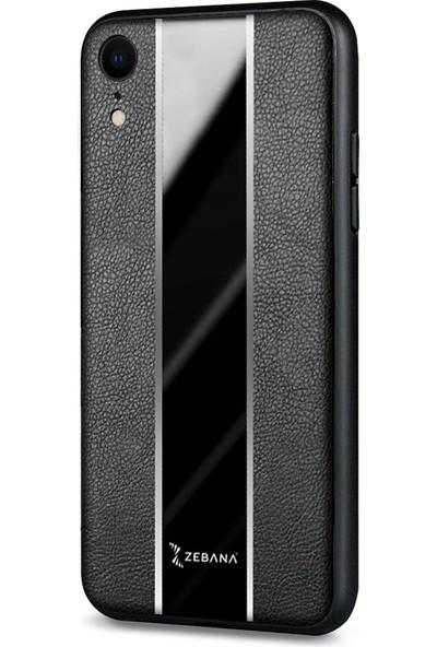 Zebana Apple Iphone Xr Kılıf Zebana Premium Deri Kılıf Siyah