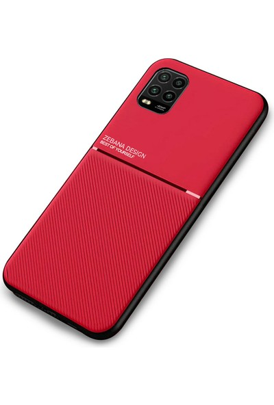 Zebana Xiaomi Mi 10 Lite Kılıf Zebana Design Silikon Kılıf Kırmızı