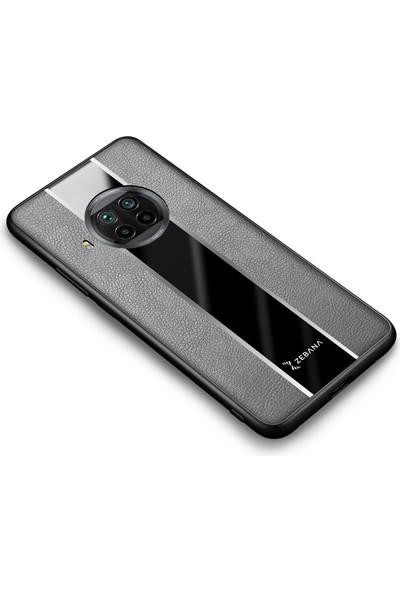 Zebana Xiaomi Mi 10T Lite Kılıf Zebana Premium Deri Kılıf Gri