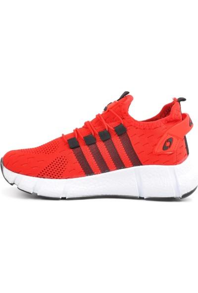 Lafonten Kırmızı-Siyah Çocuk Bağsız Spor Ayakkabı