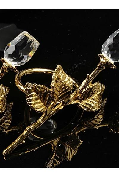Hera 6 Lı Gullu Pecetelık 9,5 Cm. Altın