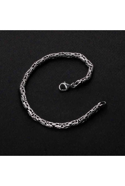 Candie Silver 4,5 mm - 13 gr Kral Zincir Gümüş Bileklik