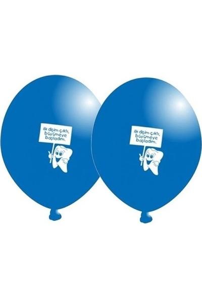 Elite Balon 20 Adet Balon Diş Buğdayı Parti Süsleme Malzemesi Mavi ( 25 cm * 30 Cm)