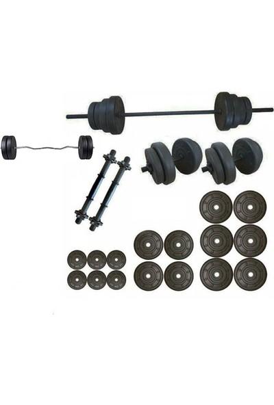 Ser Spor 85 kg Vidalı Halter Dambıl +Z Bar Seti