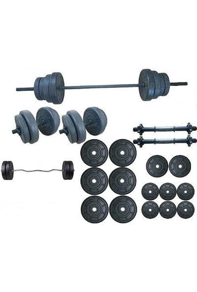 Ser Spor 75 kg Vidalı Halter Dambıl + Z Bar Seti