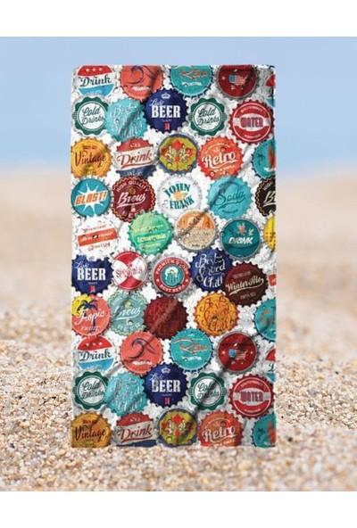 John Frank Plaj Havlusu Beercap Beach Towel
