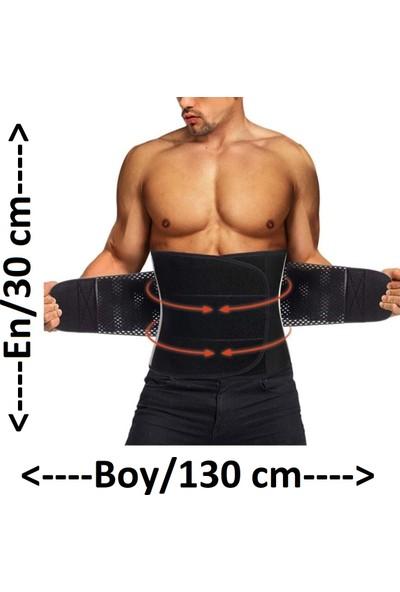 Dr. Cornell Termal Sauna Kemer 130 x 30 cm Bel Korsesi Sporcu Kemeri Incelme Zayıflama Kemeri Neopran Kemer Battal Boy