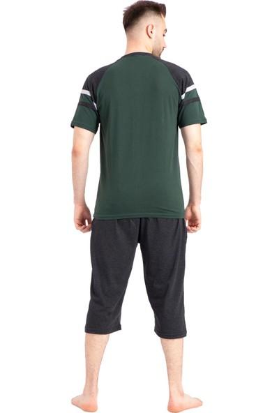 Tampap Erkek Kaprili Pijama Takımı Düğmeli Tampap 2401