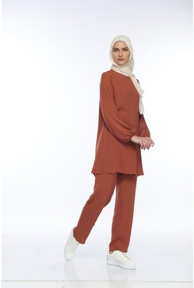 My Veil Kadın Turuncu Pantolon & Tunik Takım