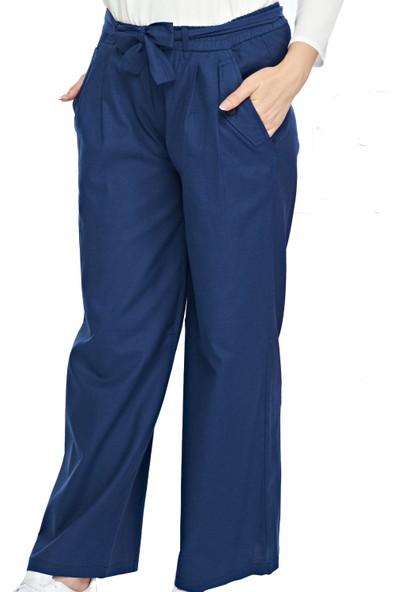 My Veil Kadın Geniş Paça Lacivert Pantolon