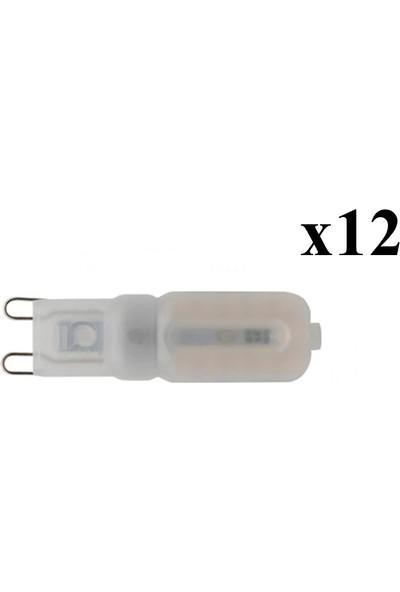 Rohs G9 22CHİP Ledli 220 Volt 5W Buzlu Beyaz/sarı Işık Seçenekli 12 Adet