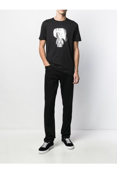KARL LAGERFELD Gray Ikonik Puffer Karl T-Shirt