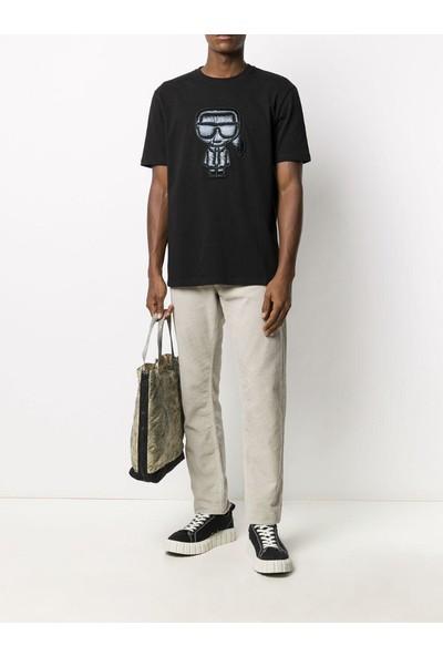 KARL LAGERFELD Black Ikonik Puffer Karl T-Shirt