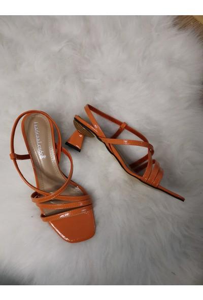Cudo Kadın Yeni Sezon Turuncu Sandalet