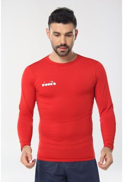 Diadora Kırmızı Uzun Kollu Erkek T-Shirt - Tsrt-Zn