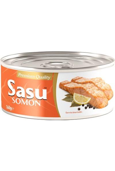 Sasu Norveç Somon Balığı 6X160G Bütün Dilim