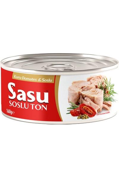 Sasu Kuru Domatesli & Soslu Ton Balığı 24X160G Bütün Dilim