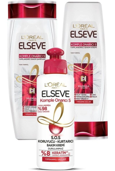 Elseve Komple Onarıcı Saç Bakım Seti 3