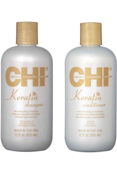 Chi Keratin Seti 2 (Şampuan 355 Ml, Saç Kremi 355 Ml)