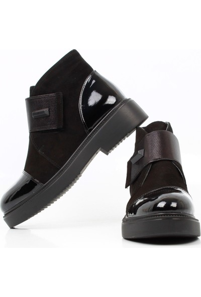 Bruno Shoes 2088 Kadın Eva Taban Bot - Siyah