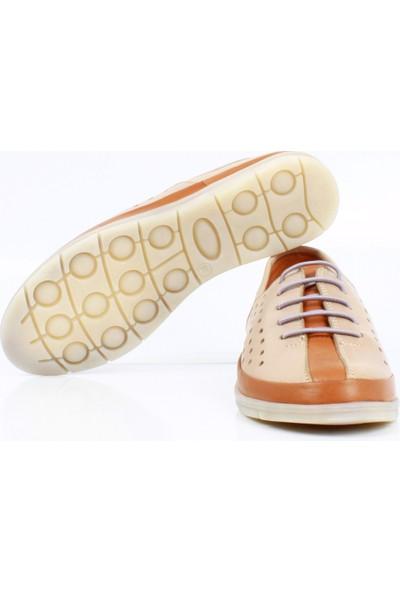 Bruno Shoes 60129 Bayan Gunluk Derı Comfort Taban Ayakkabı