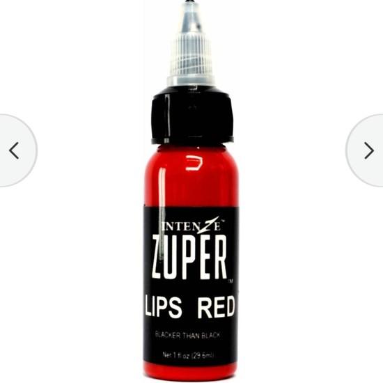 Skygo Dudak Kırmızısı Dövme Boyası Intenze Zuper Lıps Red 1 Oz - 30 ml