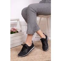 Tarçın Deri Günlük Kadın Babet Ayakkabı TRC116-0061