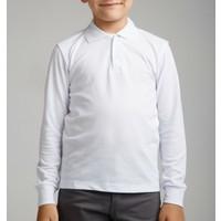 Nacar Çarşı Cocuk Polo Yaka Uzun Kol Beyaz T-Shirt