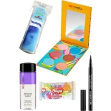 Gabrini Liquid Eyeliner Pen Waterproof + Newwell Delicious Gözfar Paleti 04 + Göz Makyaj Temiz