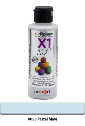 Polisan X1 Art Multisurface Hobi Boyası Pastel Mavi 120 ml