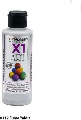 Polisan X1 Art Multisurface Hobi Boyası Yaldız Füme 120 ml