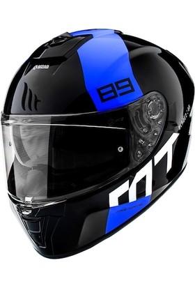 MT Kask mt Fullface Güneş Vizorlü Blade 2 Sv 89 S Beden Mavi Polıcar