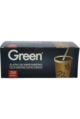 Green Jelatinli Çay, Kahve Karıştırıcı 250 Adet