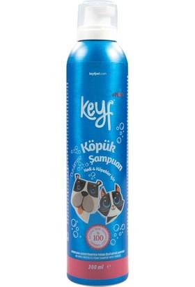 Keyf Kedi Köpek Köpük Şampuan Durulamasız Pudra Özlü 300 ml