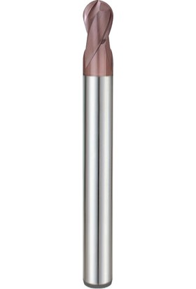 Pro-X 2 Ağızlı, Uzun, Küre Karbür Parmak Freze PPF-22140-L - R 7 - Ø14 mm