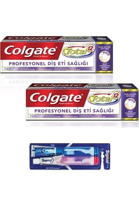 Colgate Diş Macunu Total Profesyonel Diş Eti Sağlığı 2 * 75 ml (Seyahat Seti