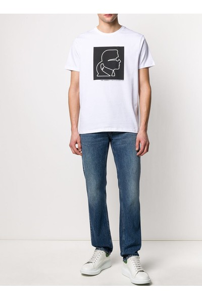 Karl Lagerfeld Profile-Print Cotton T-Shirt