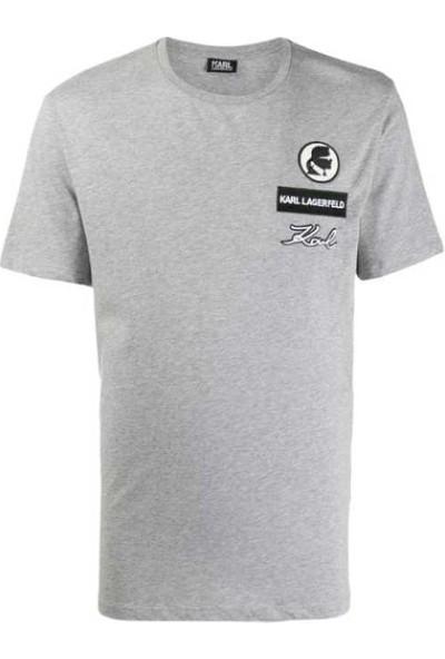KARL LAGERFELD Basic Gray T-Shirt